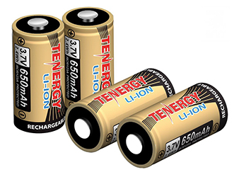 Tenergy Rechargeable CR123 Batteries