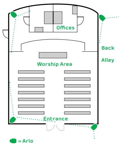 House of Worship Map